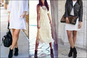 bootie-ve-beyaz-elbise