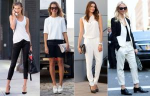 new-york-fashion-week-spring-2012-trend-black-white-street-style-karlie-kloss-pants-blazer-skirt-shoes1